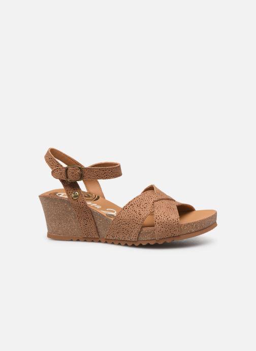 Sandales et nu-pieds Panama Jack Vika Marron vue derrière