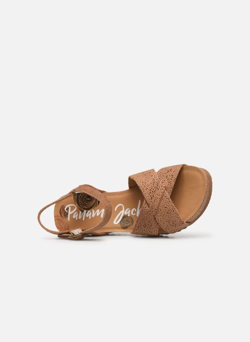 Sandales et nu-pieds Panama Jack Vika Marron vue gauche
