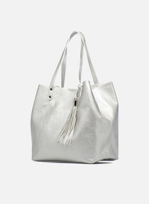 Handtaschen Georgia Rose LADY Cabas silber schuhe getragen