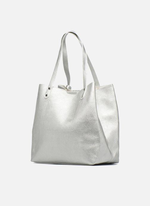 Handtaschen Georgia Rose LADY Cabas silber ansicht von rechts