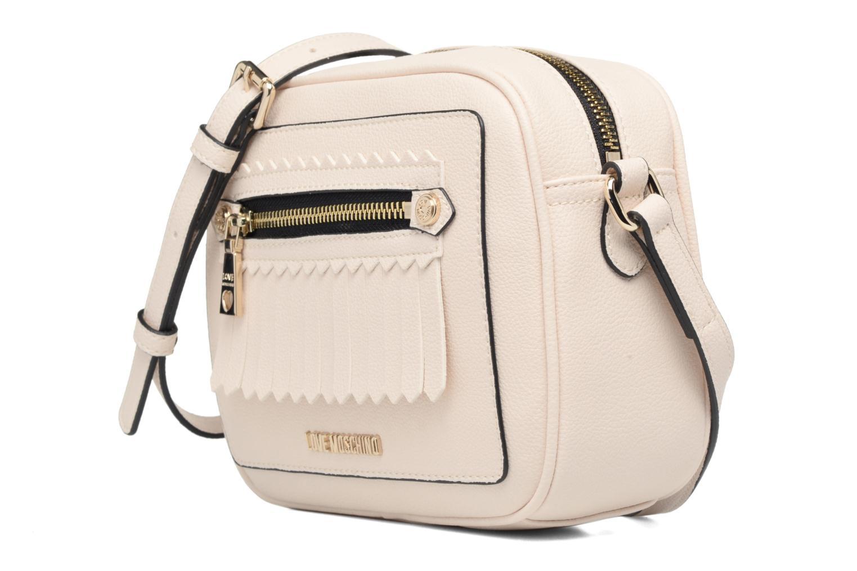 Borse Love Moschino Fringes bag Crossbody Bianco modello indossato