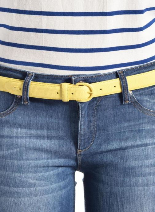 Belts Lacoste L1212 Ceinture 25mm Blue view from above