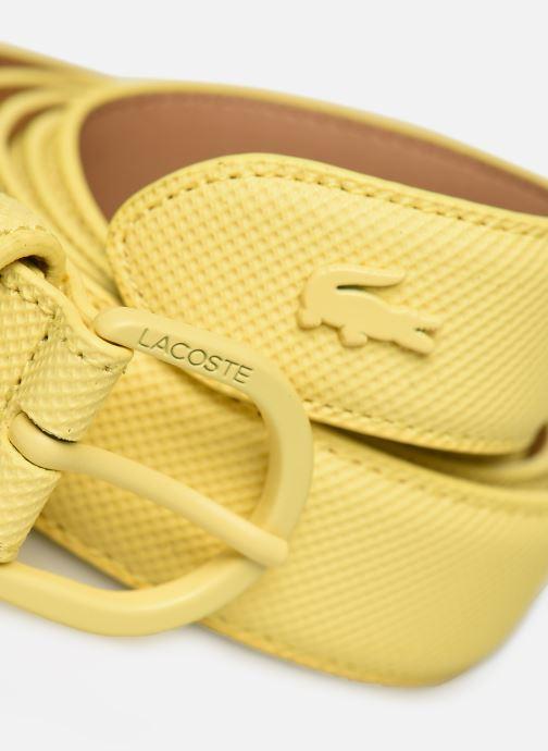Ceintures Lacoste L1212 Ceinture 25mm Jaune vue portées chaussures