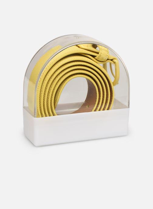 Cinturones Lacoste L1212 Ceinture 25mm Amarillo vista de frente