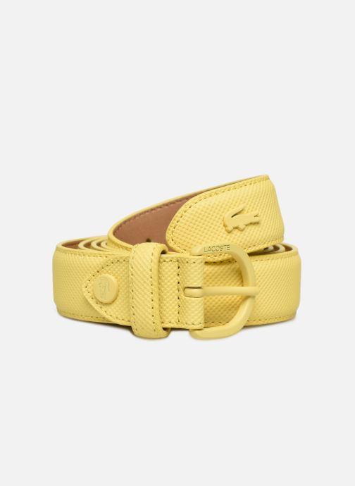 Cinturones Lacoste L1212 Ceinture 25mm Amarillo vista de detalle / par