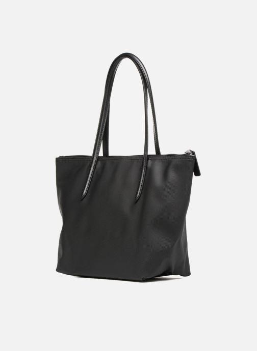 Bolsos de mano Lacoste S SHOPPING BAG Negro vista lateral derecha