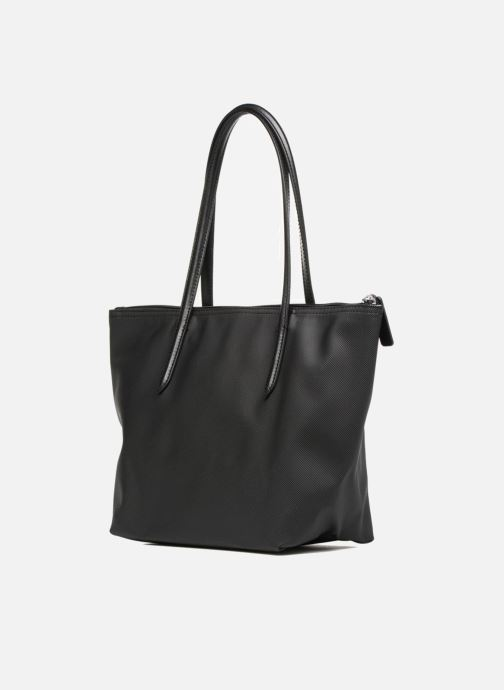 Sacs à main Lacoste S SHOPPING BAG Noir vue droite