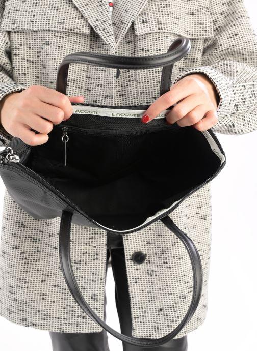 Sacs à main Lacoste S SHOPPING BAG Noir vue derrière