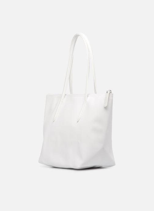 Bolsos de mano Lacoste S SHOPPING BAG Blanco vista lateral derecha