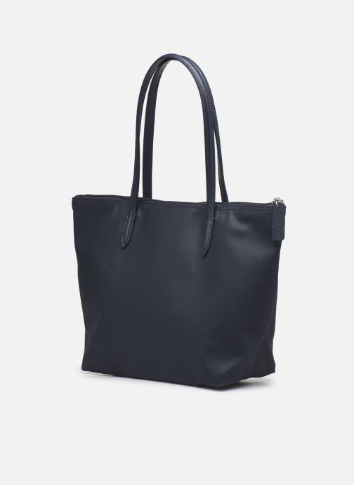 Handtassen Lacoste L.12.12 Concept S Shopping Bag Blauw rechts