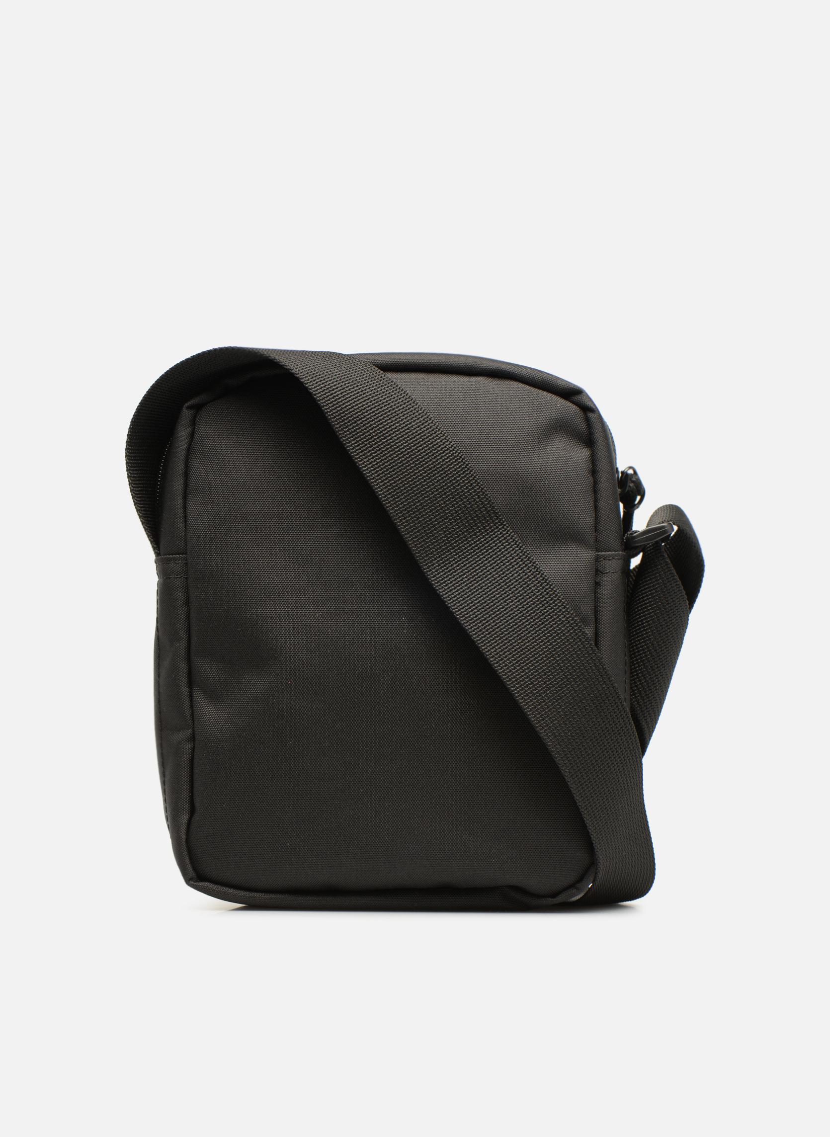 Herrentaschen Lacoste Neocroc Vertical Camera Bag schwarz ansicht von vorne