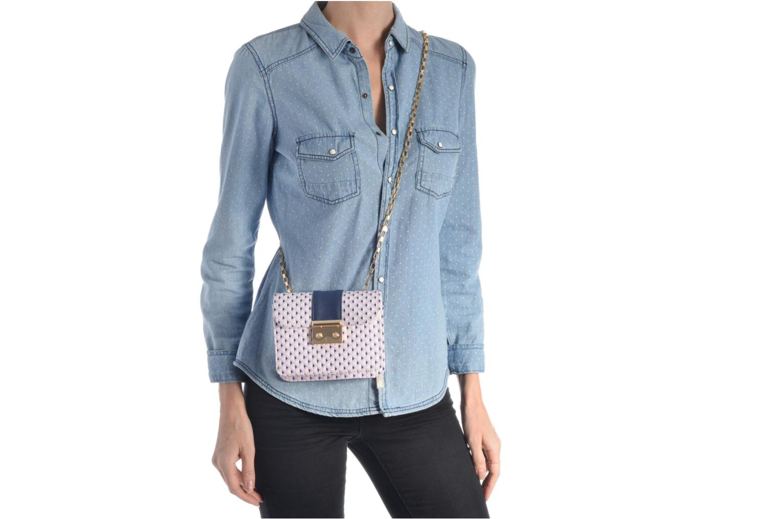 Handbags L'Aetelier Caesars ANDY Shoulder bag S Blue view from above