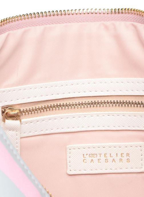 Kleine lederwaren L'Aetelier Caesars HALY Pochette Roze achterkant