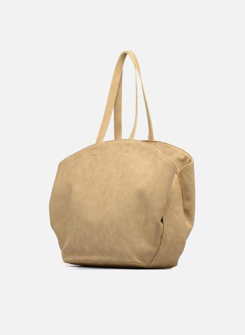 Handtaschen Les P'tites Bombes Sac bande jacquard braun ansicht von rechts