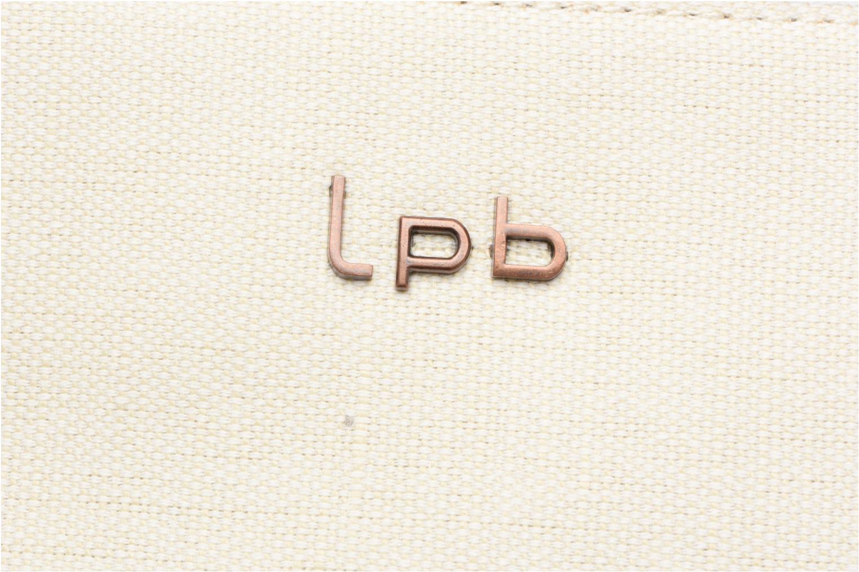 Handtaschen Les P'tites Bombes Cabas logo caviar beige ansicht von links