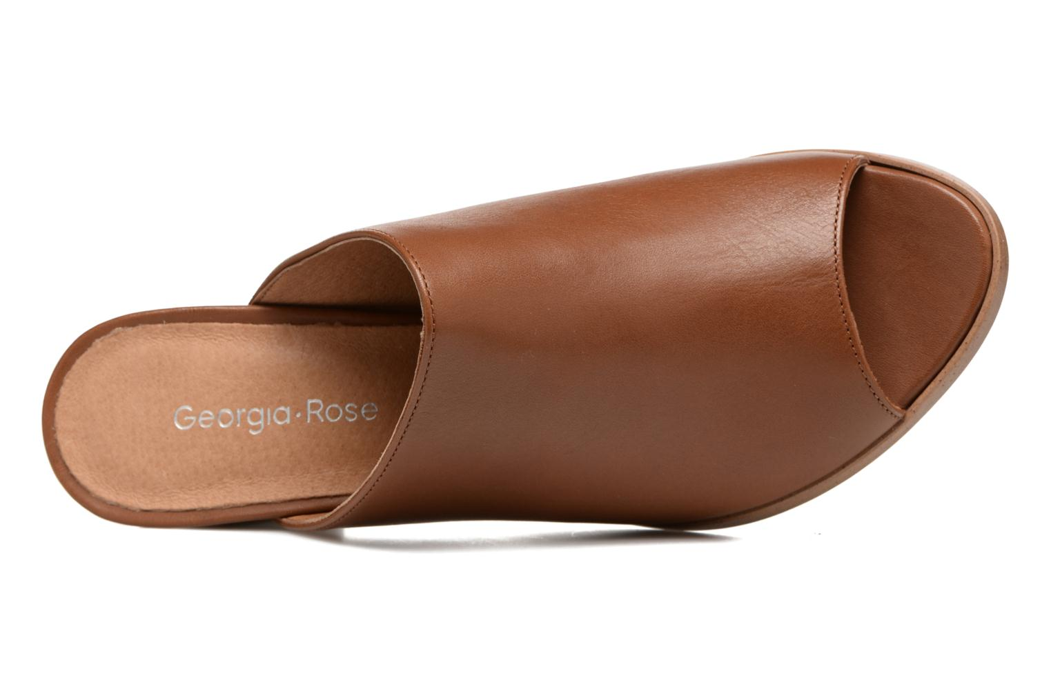 Mules & clogs Georgia Rose Esmule Brown view from the left