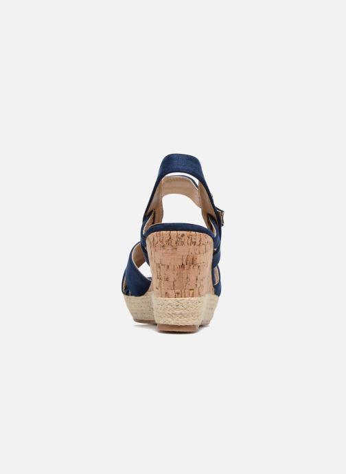 Sandales et nu-pieds Xti Issum 33450 Bleu vue droite