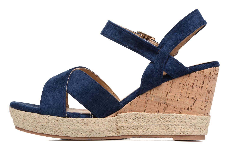 Sandales et nu-pieds Xti Issum 33450 Bleu vue face