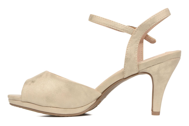 Sandales et nu-pieds Xti Ohdac 30598 Or et bronze vue face