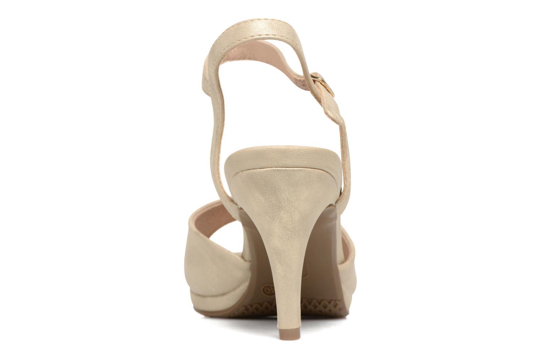 Sandales et nu-pieds Xti Ohdac 30598 Or et bronze vue droite