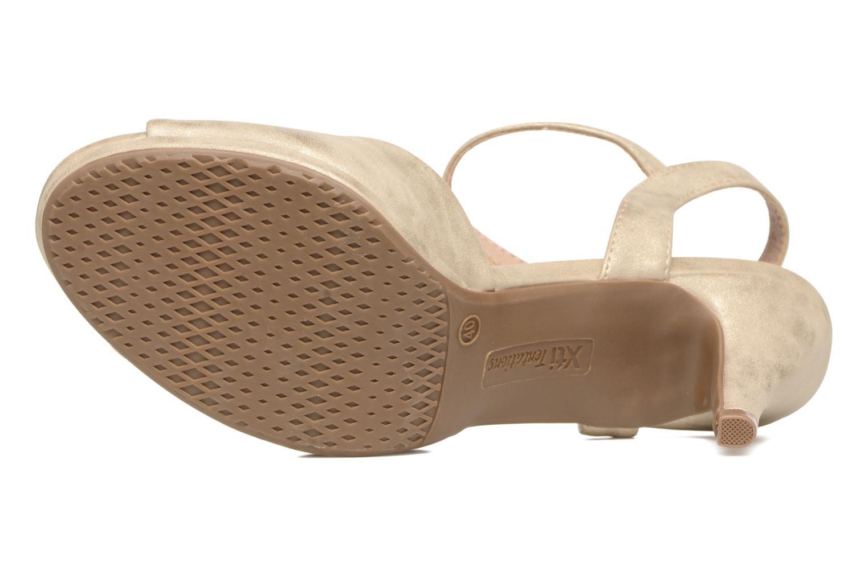 Sandales et nu-pieds Xti Ohdac 30598 Or et bronze vue haut