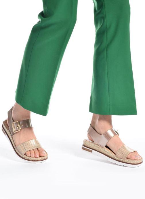 Sandales et nu-pieds Kanna Doha Or et bronze vue bas / vue portée sac