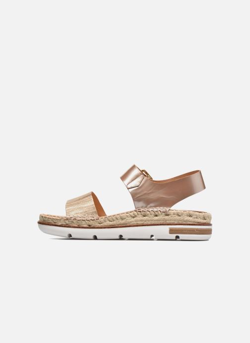 Sandales et nu-pieds Kanna Doha Or et bronze vue face