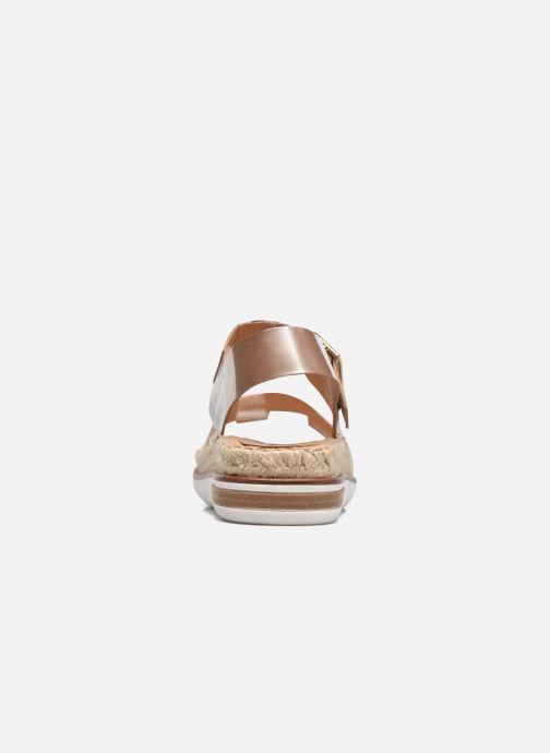 Sandales et nu-pieds Kanna Doha Or et bronze vue droite