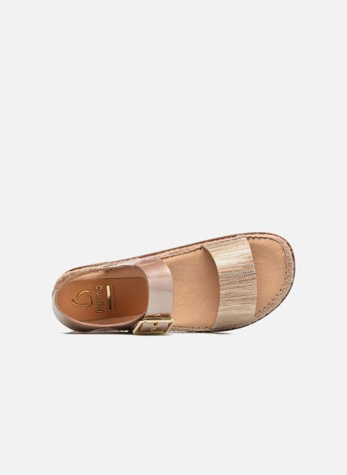 Sandales et nu-pieds Kanna Doha Or et bronze vue gauche