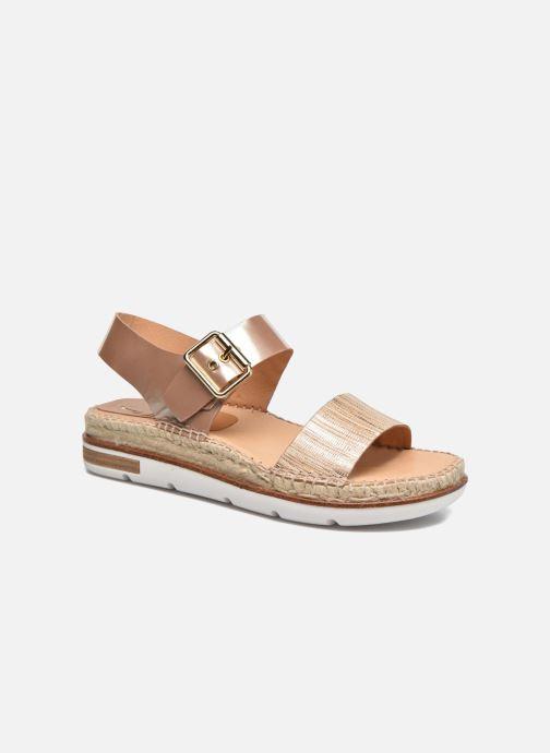 Sandales et nu-pieds Kanna Doha Or et bronze vue détail/paire