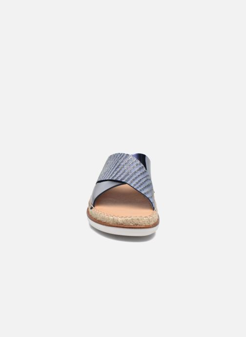 Mules et sabots Kanna Plume Bleu vue portées chaussures