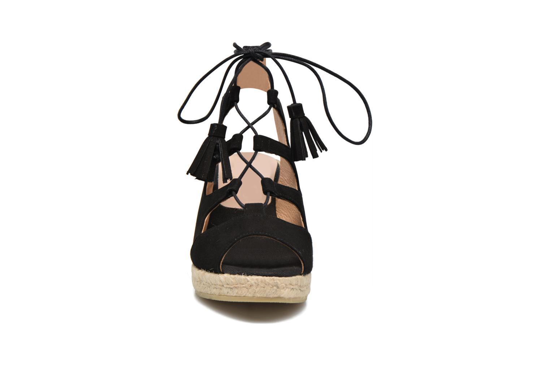 Espadrilles Kanna Luna Noir vue portées chaussures