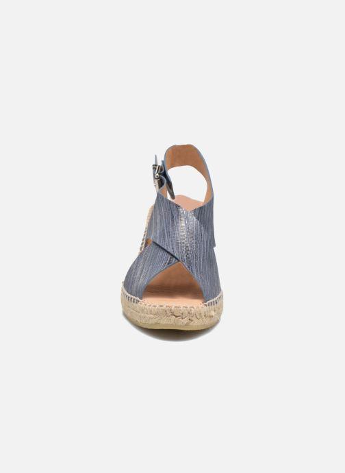 Espadrilles Kanna Jule Bleu vue portées chaussures