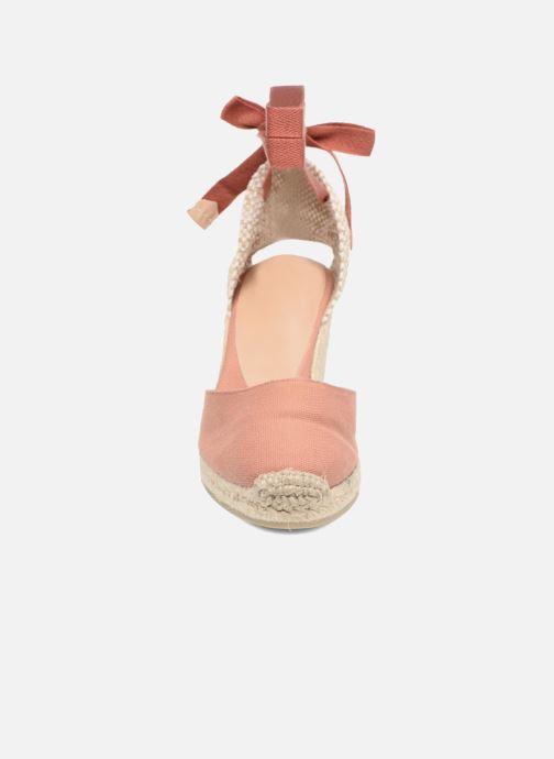 Scarpe di corda Castaner Carina H8 Rosa modello indossato