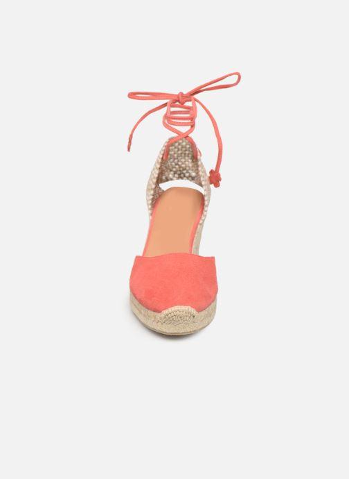 Espadrilles Castaner Carina H8 Rose vue portées chaussures