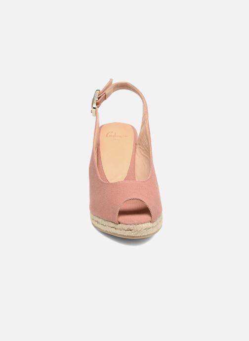 Espadrilles Castaner Beli H8 Rose vue portées chaussures