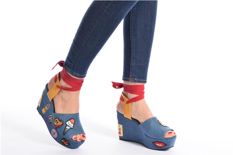 Sandales et nu-pieds Tommy Hilfiger Gigi Hadid Wedge Multicolore vue bas / vue portée sac