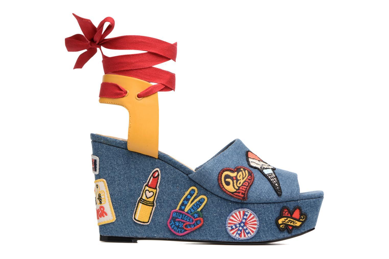 Sandales et nu-pieds Tommy Hilfiger Gigi Hadid Wedge Multicolore vue derrière