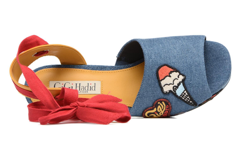 Sandales et nu-pieds Tommy Hilfiger Gigi Hadid Wedge Multicolore vue gauche