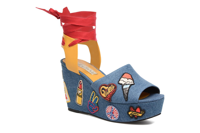 Sandales et nu-pieds Tommy Hilfiger Gigi Hadid Wedge Multicolore vue détail/paire