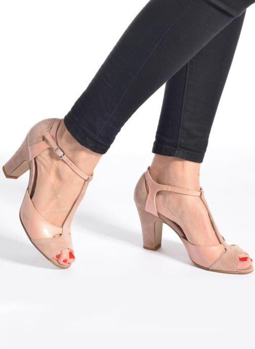 Sandales et nu-pieds Perlato Volantis Rose vue bas / vue portée sac