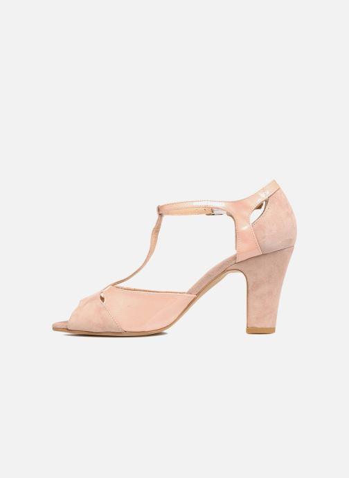 Sandales et nu-pieds Perlato Volantis Rose vue face