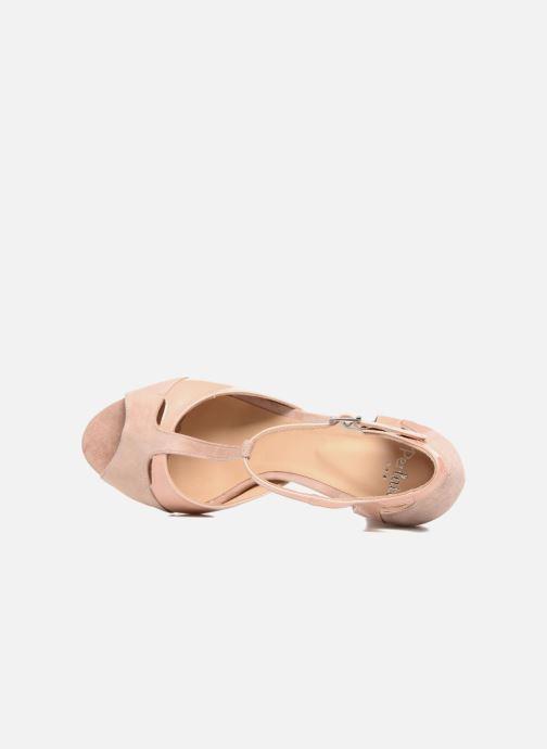 Sandales et nu-pieds Perlato Volantis Rose vue gauche