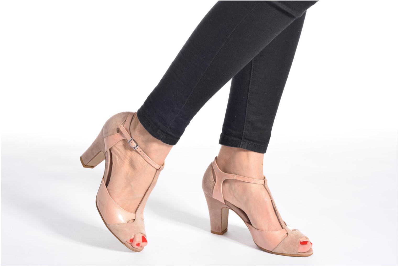 Sandales et nu-pieds Perlato Volantis Noir vue bas / vue portée sac