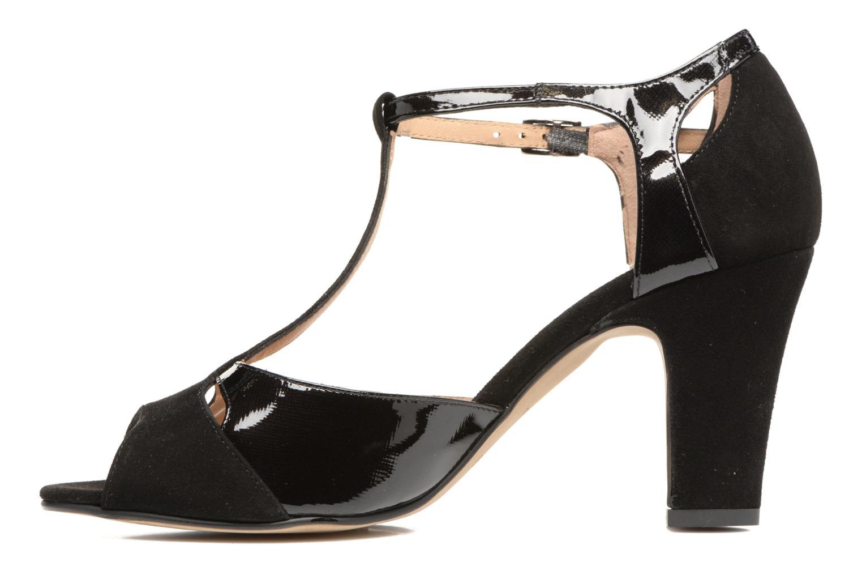 Sandales et nu-pieds Perlato Volantis Noir vue face