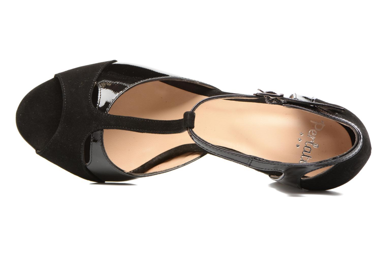 Sandales et nu-pieds Perlato Volantis Noir vue gauche