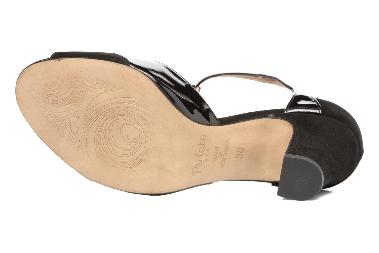 Sandales et nu-pieds Perlato Volantis Noir vue haut