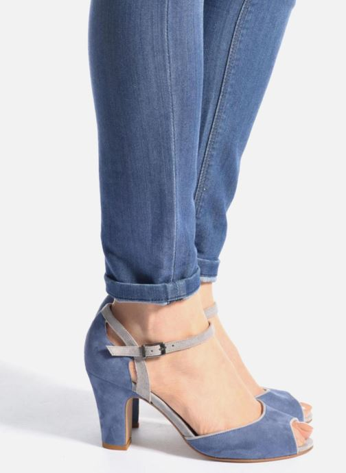 Sandales et nu-pieds Perlato Aladéa Bleu vue bas / vue portée sac