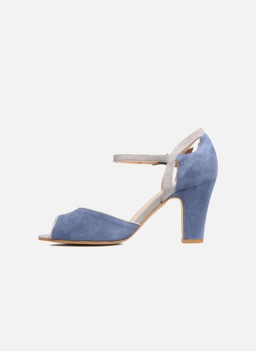 Sandalen Perlato Aladéa blau ansicht von vorne