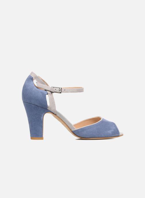 Sandalen Perlato Aladéa blau ansicht von hinten